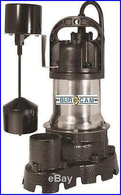 New Bur-cam 300526 Submersible Stainless 1/2hp Water Sump Pump 5312384