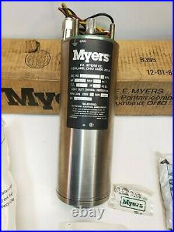 New Myers 4 Submersible Water Well Pump Motor 3 Wire 230V, 1/2 HP Free Shipping