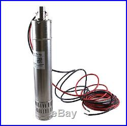 New Submersible Solar Water Pump DC24V 3000L/H 20m 384W Head Submersible