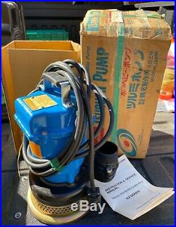 New Tsurumi S2-400 Submersible Trash Water Pump 2-inch Discharge 63 GPM 1/2HP