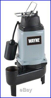 New Wayne Wcs50t Cast Iron 1/2 HP Automatic Sewage Water Pump & Switch 9560673