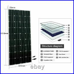 Off Grid 200Watt Mono Solar Panel Kit 24V Water Pump Deep Well 20A Controller