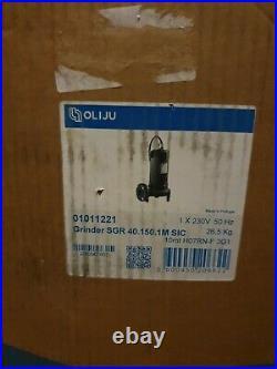 Oliju SGR40 Grinder Range Submersible Sewage Waste Water Pump New and Unused