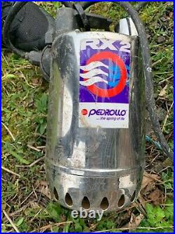 PEDROLLO RX2 Submersible DRAINAGE Pump clear water with float switch