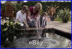 Pennington 600-GPH Submersible Pond Pump Outdoor Garden Decor with LED Light