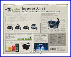 Pennington Aquagarden Inpond 5 in 1 Pond Water Pump Filter Fountain UV