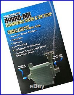Pondmaster Hydro-Air Submersible Water & Air Combination Pond Garden Pump 02795