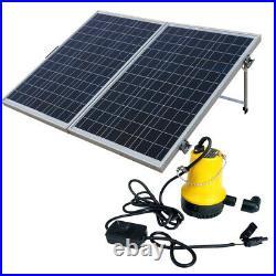 Portable Solar Water Pump System kit & Mono 12V 120W Folding Solar Panel Camper