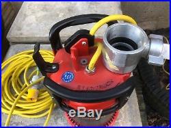 Rosenbauer Nautilus 4/1. Submersible Water/Trash pump 110v 690l/min Floodwater