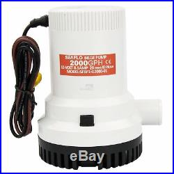 SEAFLO 12V 2000GPH Bilge Pump Marine Boat Submersible Water Pump With Float Switch