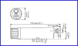 SEAFLO 12v Submersible/Inline Water/Diesel Transfer Pump 4.7 Gallons per Minute