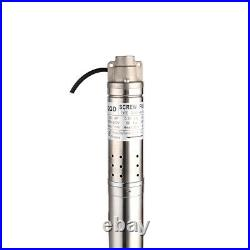 SHYLIYU Stainless Steel Deep Well Submersible Screw Water Pump Borehole Pump 2