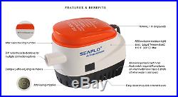 Seaflo 12V AUTOMATIC SUBMERSIBLE BOAT BILGE WATER PUMP 750GPH FLOAT SWITCH