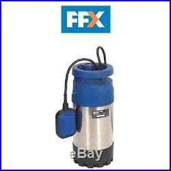 Sealey WPS92A 230v Submersible Stainless Water Pump Automatic 92ltr/min