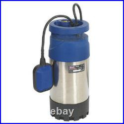 Sealey Wps92A Submersible Stainless Water Pump Auto 92Ltr/Min 40Mtr Head 230V
