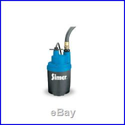 Simer Smart Geyser 1/4 HP 1800 GPH Submersible Auto Utility Water Pump
