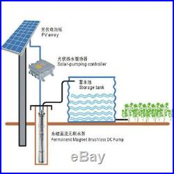 Solar Deep Well Submersible Bore Pump Screw Water Pump Brushless Irrigation