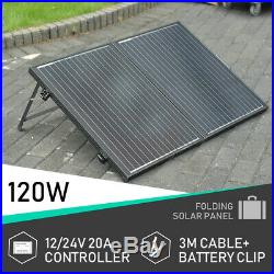 Solar Deep Well Submersible Steel Water Pump System&12V 120W Folding Solar Panel