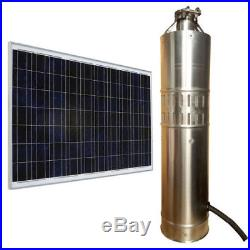 Solar Energy Water Pump 24V DC 80M/120M Deep Well Solar Submersible Pump 3m³/h