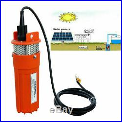 Solar Panel &12V DC Deep Well Submersible Water Pump Kits & 10m Extention Cables