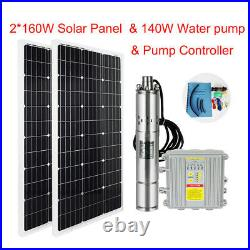 Solar Panel MPPT Deep Well Borehole Solar Water Pump Submersible Complete System