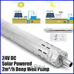 Solar Photovaltaic Powered Water Pump Farm Ranch Submersible Bore Hole Deep Well