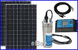 Solar Powered 200W Mono+24V 3.2GPM Submersible Water Pump-Farm Irrigation Pond