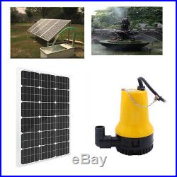 Solar Powered Pump System Kit 100W Solar Panel +Water Pump Watering Pisciculture