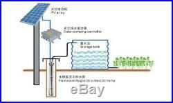 Solar Powered Water Pump Farm Ranch Submersible Bore Hole Deep Well
