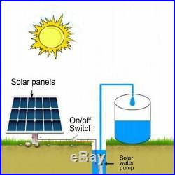 Solar Sun Powered Submersible Pump Water Well Deep Screw Garden Watering Tool