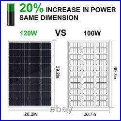 Solar Water Pump + 120W Solar Panel Kit + 12V Battery for Deep Well, Irrigation