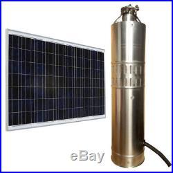 Solar Water Pump 24V DC 80M/120M Deep Well Solar Submersible Pump 3m³/h