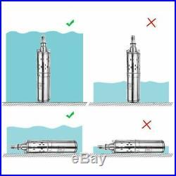 Solar Water Pump Deep Well Lift 60m 24v/48V DC Screw Submersible Irrigation Kit