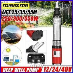 Solar Water Pump Lift Deep Well DC Screw Submersible Agricultural Garden Home