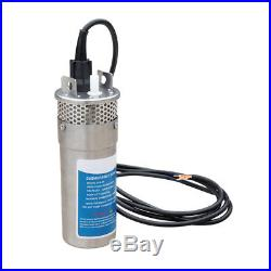 Stainless Steel Solar Powered Submersible Pump 24V DC Water Well Pump for Farm