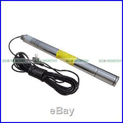 Stainless Submersible Deep Bore Well Water Pump 1/2HP 240V with 15m Wire