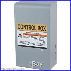 Star Water Pump Motor Control Box 3 Wire Submersible Well 1/2 HP 230V 127189