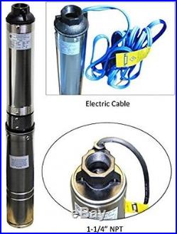Submersible Deep Well Water Pump Heavy Duty Electric 33 GPM Stainless Steel New