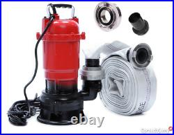 Submersible Flood Water Pump Heavy Duty Pond Waste Cesspit Sump Sewage Dirty