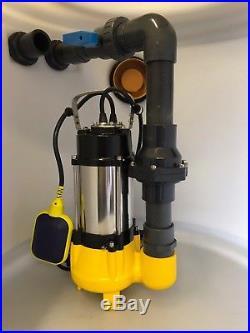 Submersible Foul Water Vortex Pump 550 Watts