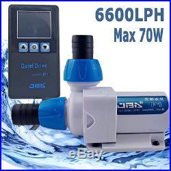 Submersible Inline Aquarium Fountain Pond Eco Marine Water Pump Fish Tank 6600LH