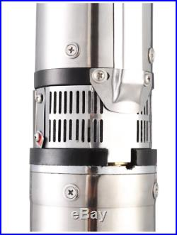 Submersible Pump Deep Well 4 1 HP 33 GPM Stainless Steel Deep Water Control Box