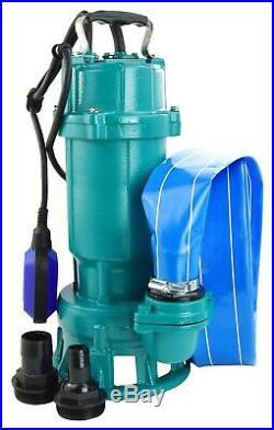 Submersible Sewage DIRTY Water Drain Septic Sump Cesspool Grinding Pump + Hose