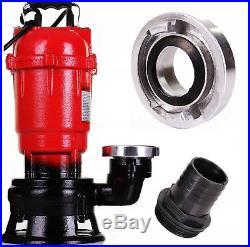 Submersible Sewage Dirty Water Deep Well Septic Sump Cesspool Pump + Grinder
