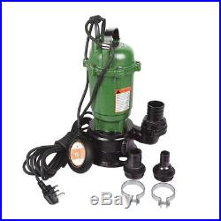 Submersible Sewage Dirty Water Drain Septic Sump Pump, 2 /1.5/1 Hose Connector