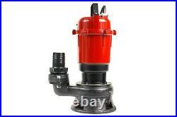 Submersible Sewage Drain Septic Flood Water Pump Sump Cesspool Grinding 10m Hose