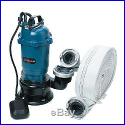 Submersible Sewage FLOOD Water Pond Drain Septic Sump Cesspool Grinding Pump