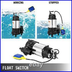Submersible Sewage Pump Dirty Water Pump 1 HP 6340 GPH Stainless Steel