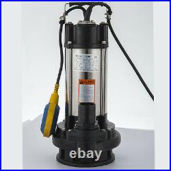 Submersible Sewage Water Pump With Float Switch 2200W Dirty Waste Water