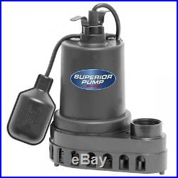 Submersible Sump Pump With Float Switch 110V 1/2 HP Basement Water Pool Yard New